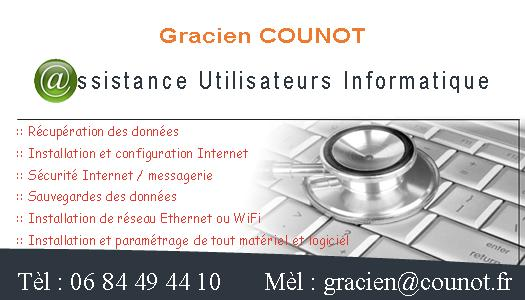 Gracien Counot - Dépannage, Assistance Informatique